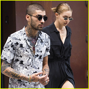 Gigi Hadid Wears 'Zayn' Necklace While Stepping Out with Him!