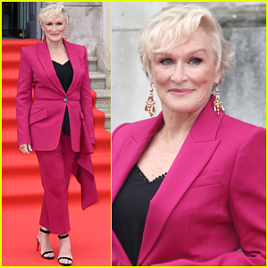 Glenn Close Stuns in Pink Suit at 'The Wife' Premiere in London