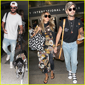 Heidi Klum & Tom Kaulitz Touch Down at LAX with Bill Kaulitz!