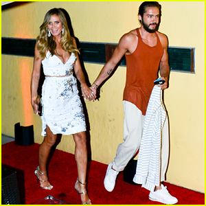 Heidi Klum & Boyfriend Tom Kaulitz Are All Smiles While Heading to Simon Cowell's Party in LA!