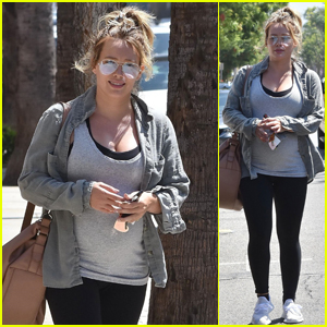 Pregnant Hilary Duff Heads to the Gym in Studio City