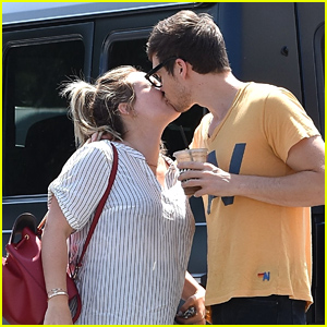 Pregnant Hilary Duff & Boyfriend Matthew Koma Share a Cute Kiss Before Lunch in Studio City!