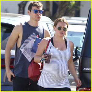 Pregnant Hilary Duff & Matthew Koma Head to Yoga Class!