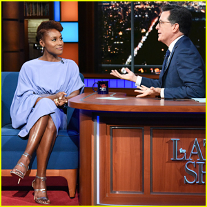 Issa Rae Gives Stephen Colbert Her Favorite Advice: 'Don't Be Afraid To Be A Bitch'