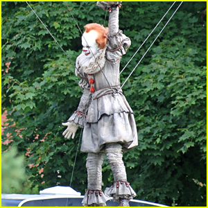 Bill Skarsgard Films as Pennywise on 'It 2' Set - Get a First Look!