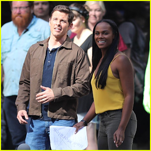 James Marsden & Tika Sumpter Film 'Sonic the Hedgehog' Movie Together