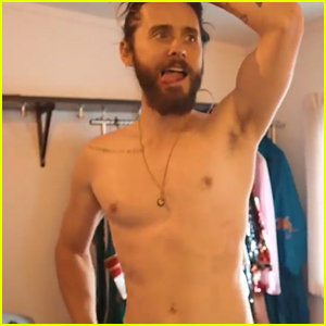 Jared Leto Looks So Hot Dancing Around Shirtless - Watch Now!