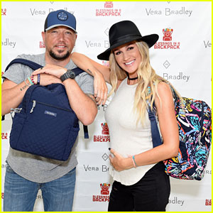 Jason Aldean & Pregnant Wife Brittany Host Vera Bradley x Blessings in a Backpack Elementary School Charity Event