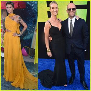 Jason Statham & Ruby Rose Join 'The Meg' Cast at LA Premiere