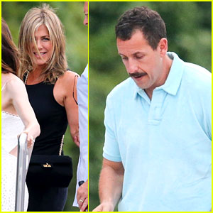 Jennifer Aniston & Adam Sandler Visit George & Amal Clooney at Lake Como
