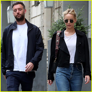 Jennifer Lawrence Spends More Time with Cooke Maroney in Paris