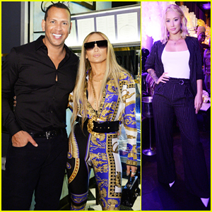 Jennifer Lopez Gets Support from Alex Rodriguez & Iggy Azalea at MTV VMAs After Party 2018!
