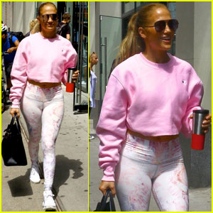 Jennifer Lopez Makes Time for More Rehearsals While in NYC!