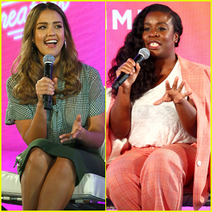 Jessica Alba Joins Uzo Aduba at #BlogHer Summit in NYC!