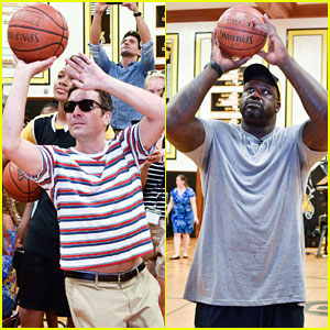 Jimmy Fallon & Shaquille O'Neal Play Basketball with Kids in the Hamptons