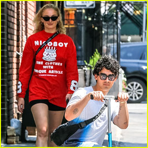 Joe Jonas Rides Scooter Around NYC With Sophie Turner on His Birthday!
