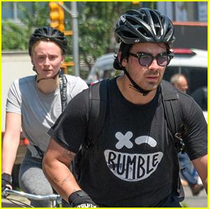 Joe Jonas & Sophie Turner Work Up a Sweat On Their Bike Ride!