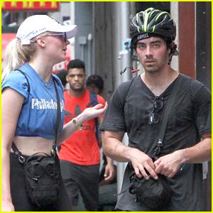 Joe Jonas & Sophie Turner Head Out for Bike Ride in NYC!