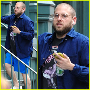 Jonah Hill Dons Shades of Blue While Kicking Off His Weekend in NYC