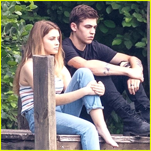 'After' Movie Set Photos: Josephine Langford & Hero Fiennes Tiffin Film On a Dock