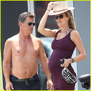 Josh Brolin Goes Shirtless for Bike Ride with Pregnant Wife Kathryn Boyd!