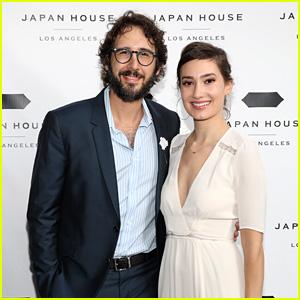 Josh Groban & Girlfriend Schuyler Helford Attend Opening of Japan House Los Angeles