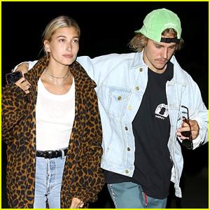 Justin Bieber & Hailey Baldwin Enjoy a Casual Dinner Date