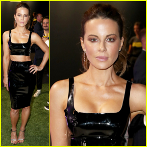 Kate Beckinsale Bares Midriff at Rolls Royce X Technogym Party!