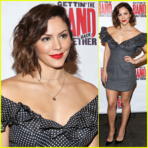Katharine McPhee Supports Opening Night of 'The Band Back Together'!