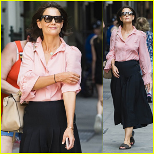 Katie Holmes Is All Smiles After a Meeting in New York City