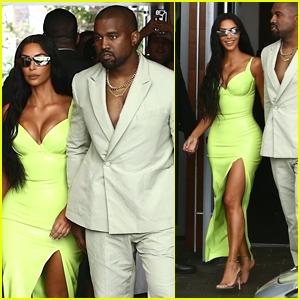 Kim Kardashian Kanye West Step Out In Style For 2 Chainz S Wedding Miami