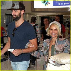 Kristin Chenoweth & New Boyfriend Josh Bryant Fly Out of L.A. Together
