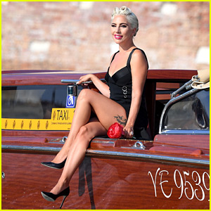 Lady Gaga Makes the Most Epic Arrival to Venice