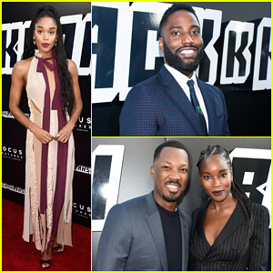 Laura Harrier & John David Washington Step Out In Style for 'BlacKkKlansman' Premiere!
