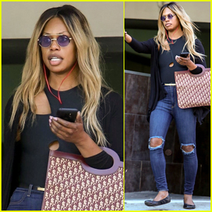 Laverne Cox Kicks Off Her Morning with a Meeting in Beverly Hills