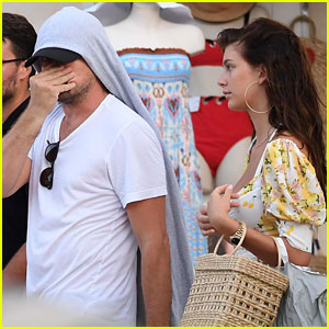 Leonardo DiCaprio Lets His Hoodie Hang from His Head in Italy
