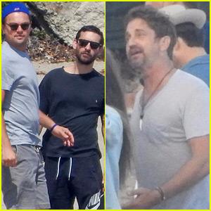 Leonardo DiCaprio, Gerard Butler, & More Celebs Attend Beach Party Together!