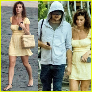 Leonardo DiCaprio & Girlfriend Camila Morrone Couple Up in Italy