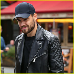 Liam Payne Rocks Leather Jacket During Day of Interviews in London