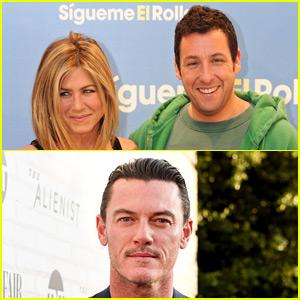 Luke Evans Praises Co-Stars Jennifer Aniston & Adam Sandler in Sweet Tweet!