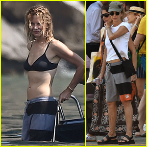 Meg Ryan Flaunts Toned Bikini Body on Vacation in Italy!