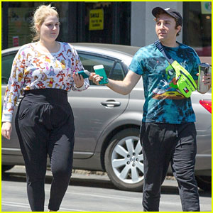 Meghan Trainor & Fiance Daryl Sabara Wear Matching Outfits for Cryotherapy Session