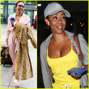 Mel B Arrives at Heathrow Airport in Style