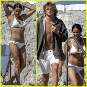 Michelle Rodriguez & Jordan Barrett Vacation in Italy Together!