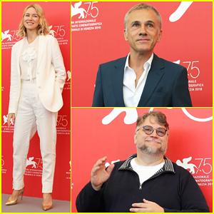Naomi Watts, Christoph Waltz & Guillermo Del Toro Kick Off Venice Film Festival at Jury Photo Call!