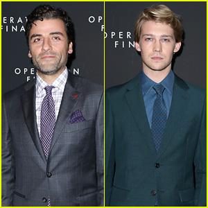Oscar Isaac & Joe Alwyn Suit Up for 'Operation Finale' Premiere