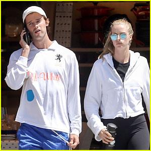 Patrick Schwarzenegger & Girlfriend Abby Champion Grab Lunch in Santa Monica