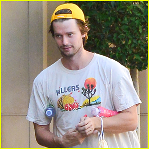 Patrick Schwarzenegger Steps Out for Solo Lunch at Sugarfish