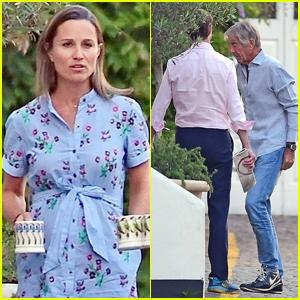 Pregnant Pippa Middleton Enjoys Tea Time with Hubby James Matthews & In-Laws!