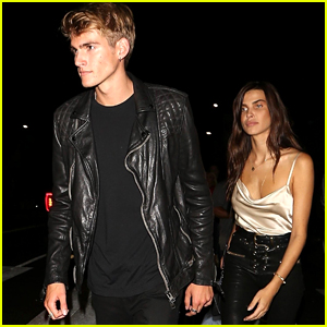 Presley Gerber & Girlfriend Charlotte D'Alessio Head Out to Party at Poppy!